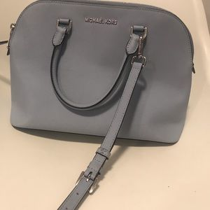 Michael kors light blue large crossbody bag